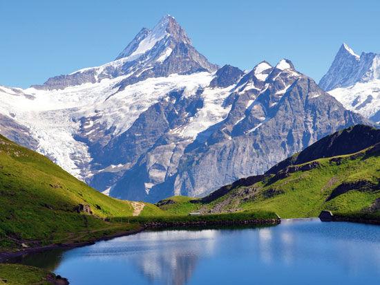 Glaciers et trains de Montagne